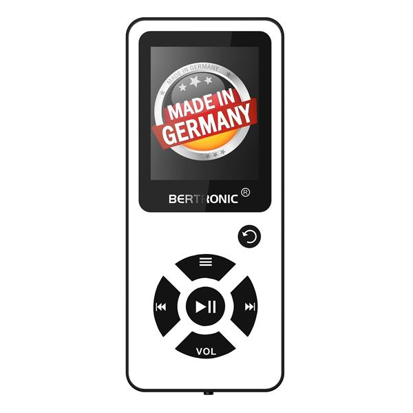 MP3 Player 16GB Royal BC03 Weiss + Silikon