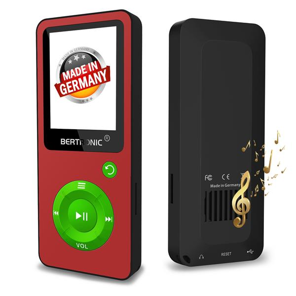MP3 Player 8GB BC02 XMAS Rot-Grün