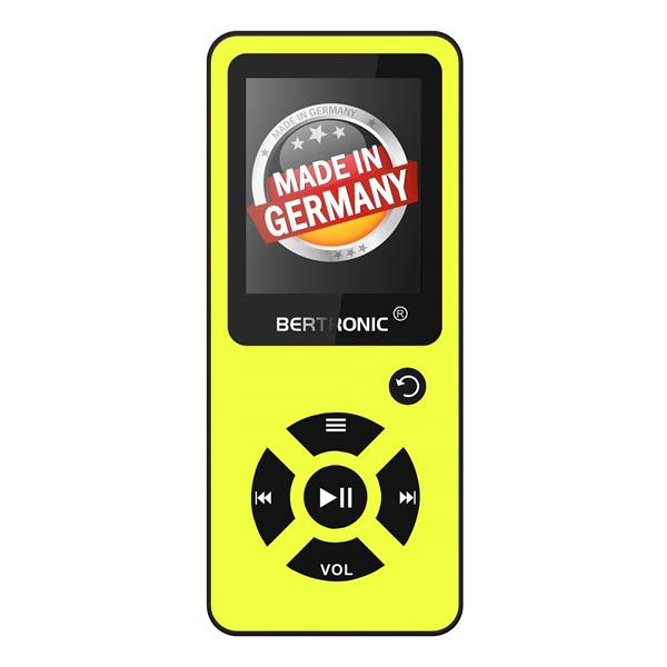 MP3 Player 8GB Royal BC03 Gelb + Silikon