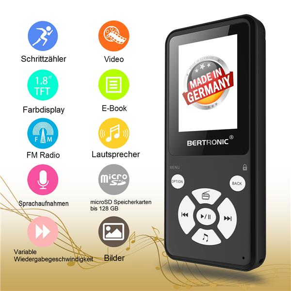 MP3 Player Thor BC910 Schwarz + 16 GB